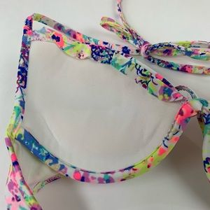 Victoria's Secret Swim - Victorias Secret Bikini Top 34A Halter Floral Blue
